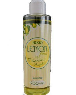 Nikky Lemon Fresh – 70° Κολώνια Λεμόνι 200ml